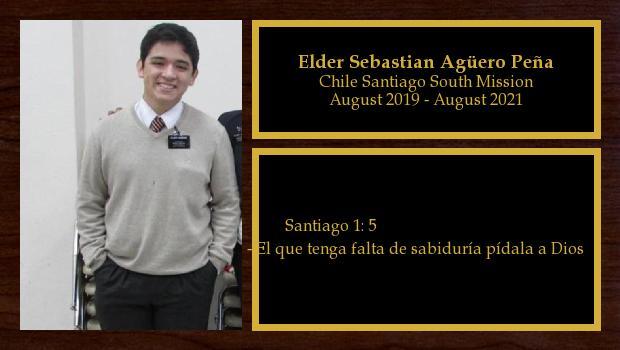 August 2019 to August 2021<br/>Elder Sebastian Agüero Peña
