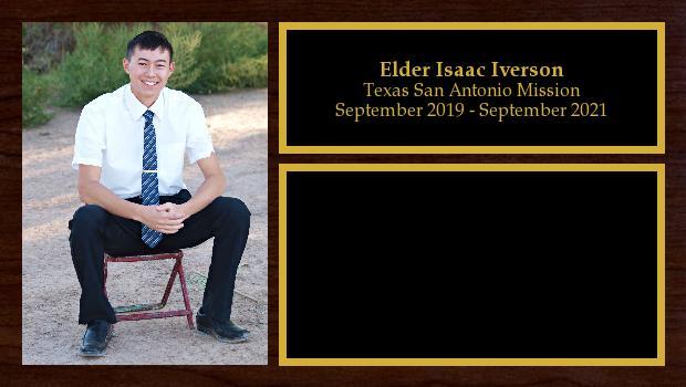 September 2019 to September 2021<br/>Elder Isaac Iverson