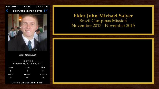November 2013 to November 2015<br/>Elder John-Michael Salyer