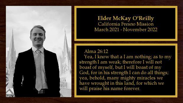 October 2019 to October 2021<br/>Elder McKay O'Reilly