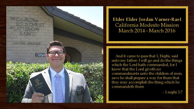 March 2014 to March 2016<br/>Elder Elder Jordan Varner-Rael