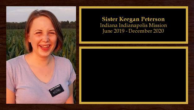 June 2019 to January 2021<br/>Sister Keegan Peterson