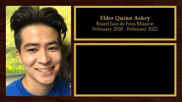 February 2020 to February 2022<br/>Elder Quinn Askey