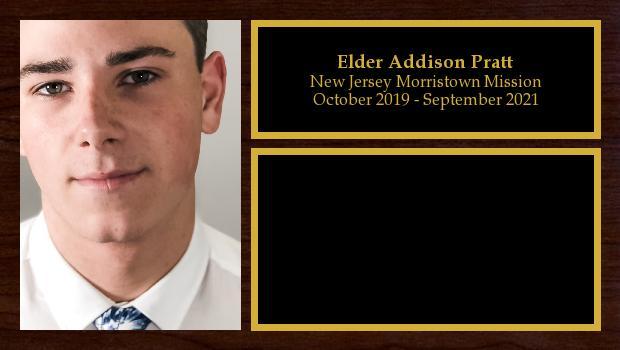 October 2019 to September 2021<br/>Elder Addison Pratt