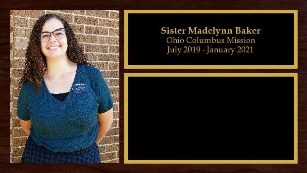 July 2019 to January 2021<br/>Sister Madelynn Baker