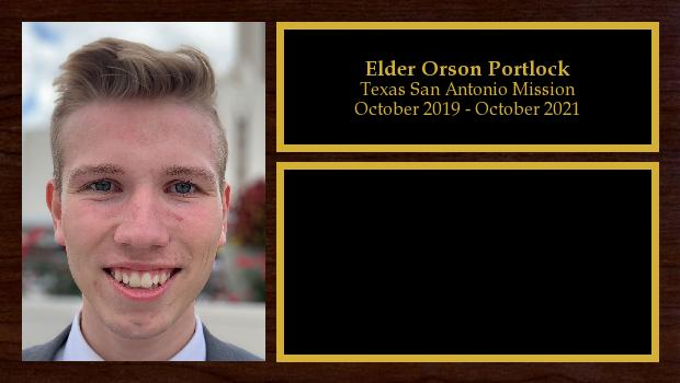 October 2019 to October 2021<br/>Elder Orson Portlock