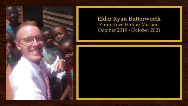 October 2019 to October 2021<br/>Elder Ryan Butterworth