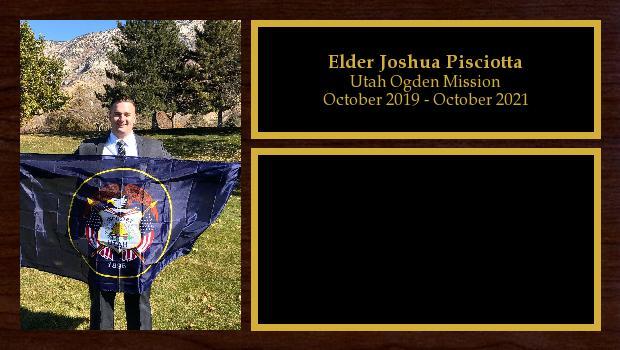 October 2019 to February 2020<br/>Elder Joshua Pisciotta