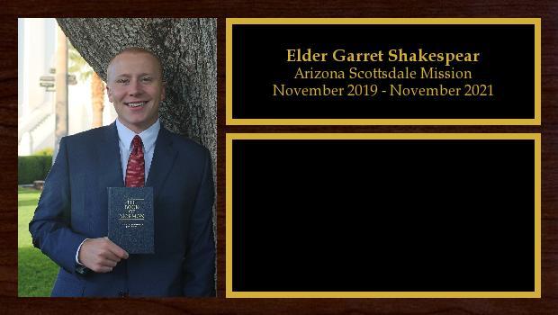 November 2019 to November 2021<br/>Elder Garret Shakespear