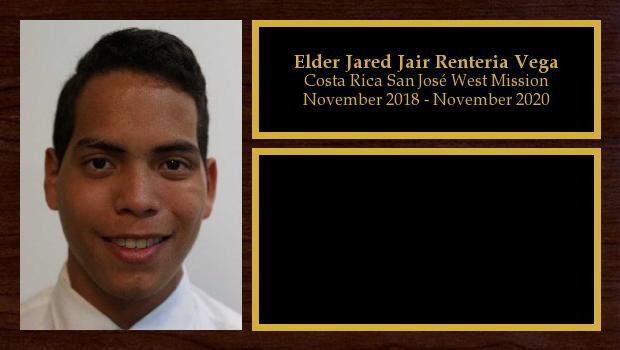 November 2018 to November 2020<br/>Elder Jared Jair Renteria Vega
