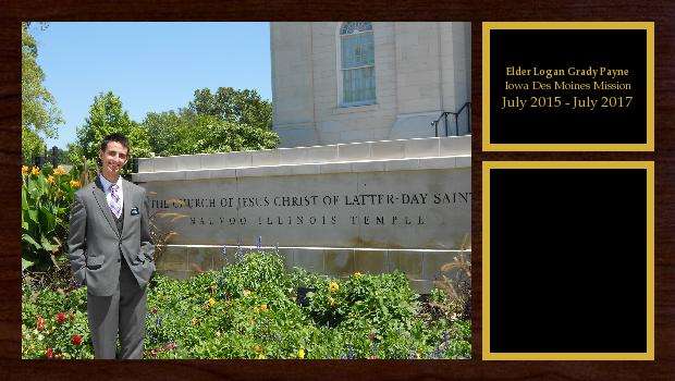 July 2015 to July 2017<br/>Elder Logan Grady Payne