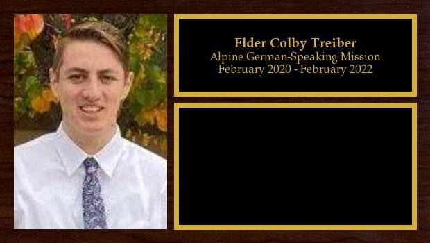 February 2020 to February 2022<br/>Elder Colby Treiber