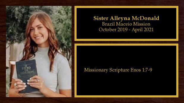 <br/>Sister Alleyna McDonald