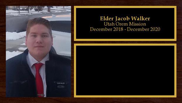 December 2018 to December 2020<br/>Elder Jacob Walker