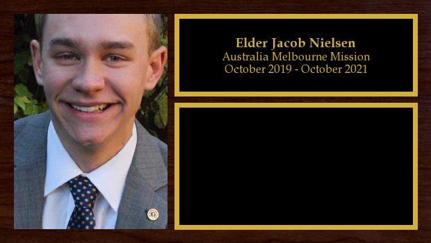 October 2019 to October 2021<br/>Elder Jacob Nielsen