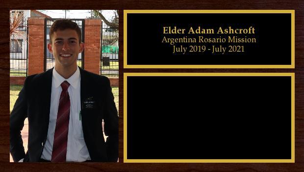July 2019 to July 2021<br/>Elder Adam Ashcroft