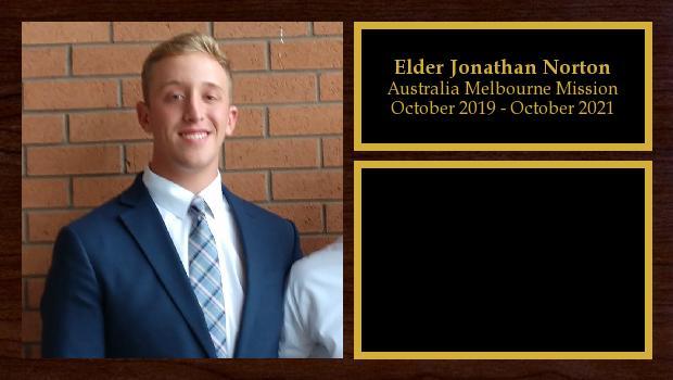 October 2019 to October 2021<br/>Elder Jonathan Norton