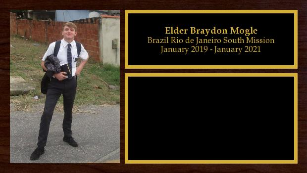 January 2019 to January 2021<br/>Elder Braydon Mogle