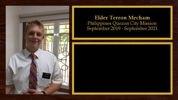 September 2019 to September 2021<br/>Elder Terron Mecham