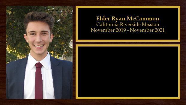 November 2019 to November 2021<br/>Elder Ryan McCammon