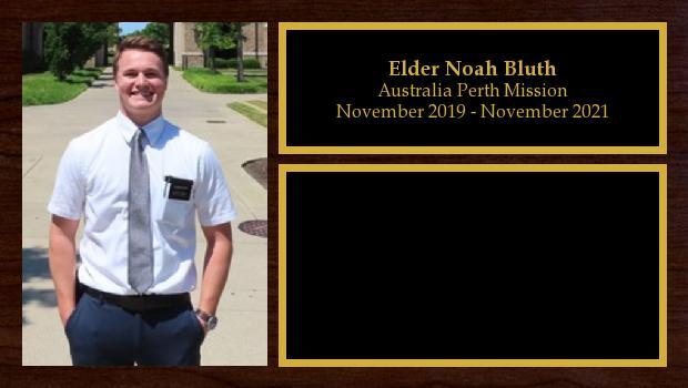 November 2019 to November 2021<br/>Elder Noah Bluth