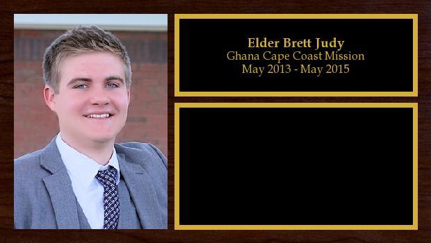 May 2013 to May 2015<br/>Elder Brett Judy