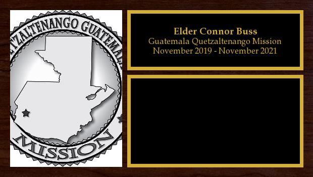 November 2019 to November 2021<br/>Elder Connor Buss