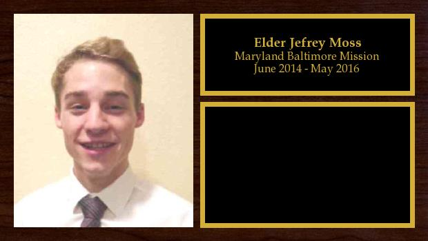 June 2014 to May 2016<br/>Elder Jefrey Moss