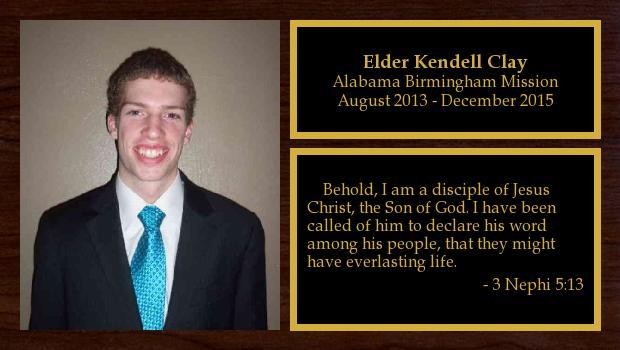 August 2013 to December 2015<br/>Elder Kendell Clay