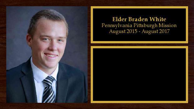 August 2015 to August 2017<br/>Elder Braden White