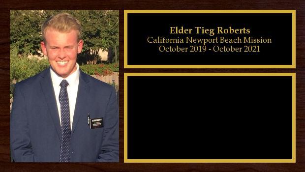 October 2019 to October 2021<br/>Elder Tieg Roberts