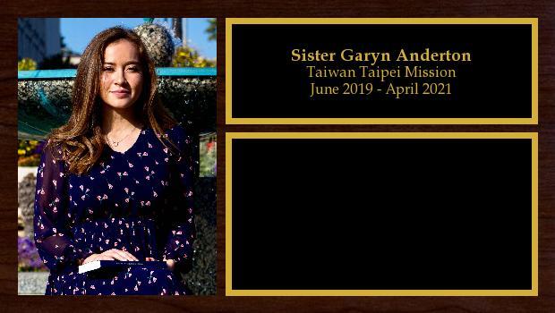 June 2019 to February 2021<br/>Sister Garyn Anderton