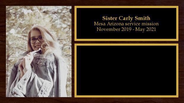 November 2019 to May 2021<br/>Sister Carly Smith