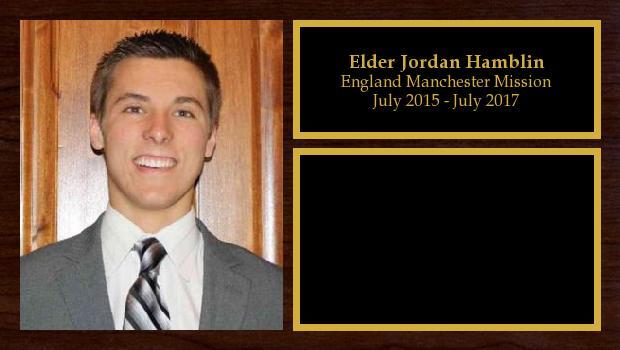 July 2015 to July 2017<br/>Elder Jordan Hamblin