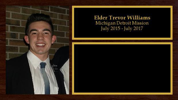 July 2015 to July 2017<br/>Elder Trevor Williams