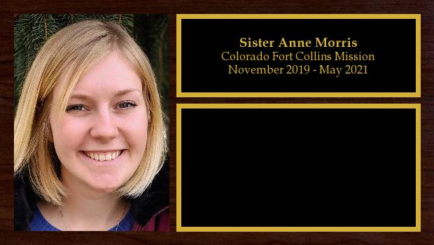 November 2019 to May 2021<br/>Sister Anne Morris