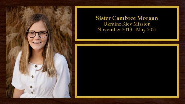 November 2019 to May 2021<br/>Sister Cambree Morgan