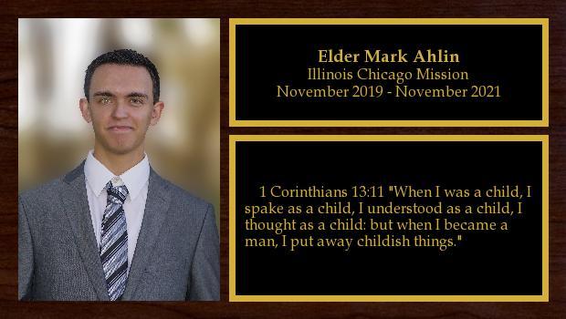 November 2019 to November 2021<br/>Elder Mark Ahlin