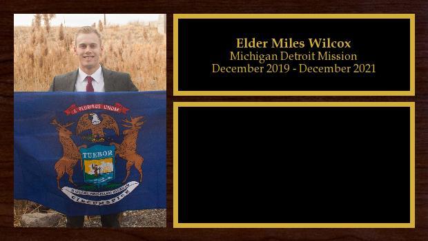 December 2019 to December 2021<br/>Elder Miles Wilcox