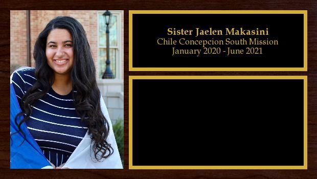 January 2020 to June 2021<br/>Sister Jaelen Makasini