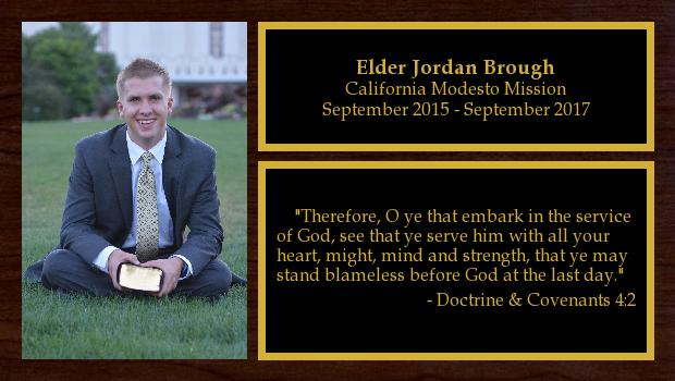 September 2015 to September 2017<br/>Elder Jordan Brough