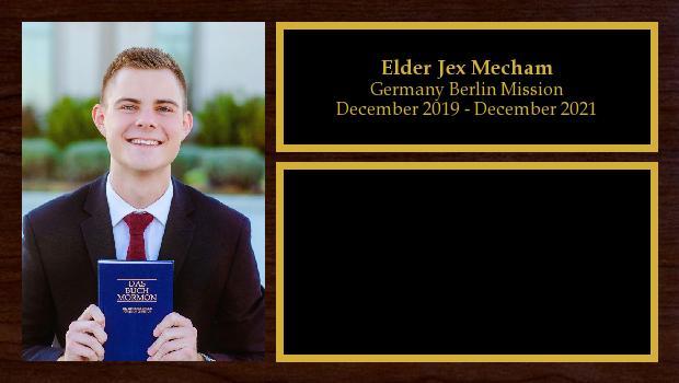 December 2019 to December 2021<br/>Elder Jex Mecham