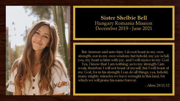 December 2019 to June 2021<br/>Sister Shelbie Bell
