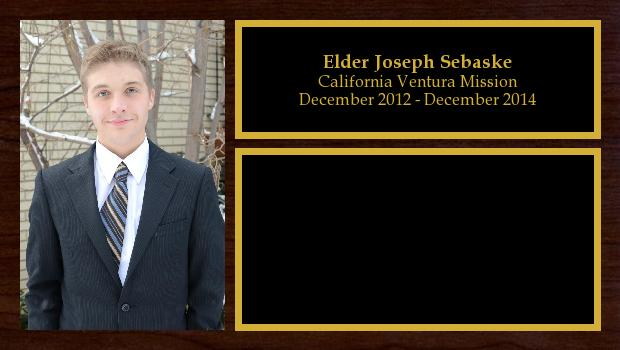December 2012 to December 2014<br/>Elder Joseph Sebaske