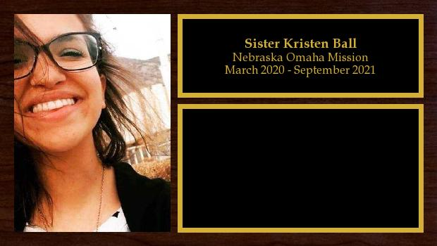 March 2020 to March 2020<br/>Sister Kristen Ball