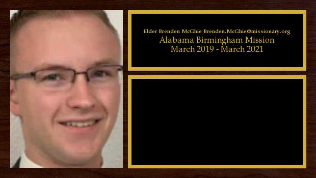 March 2019 to March 2021<br/>Elder Brenden McGhie