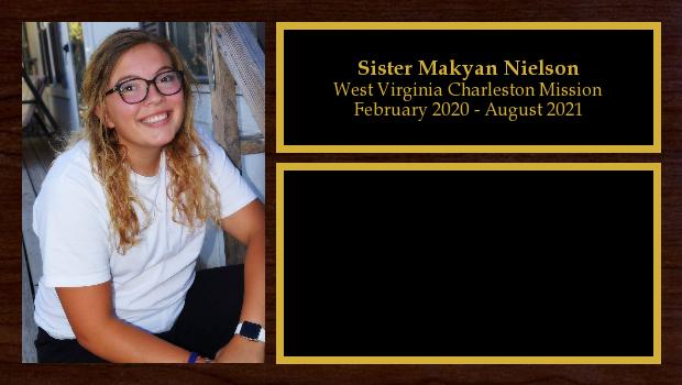 February 2020 to August 2021<br/>Sister Makyan Nielson