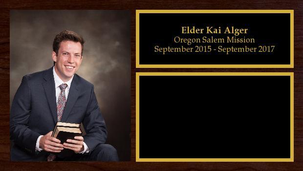 September 2015 to September 2017<br/>Elder Kai Alger
