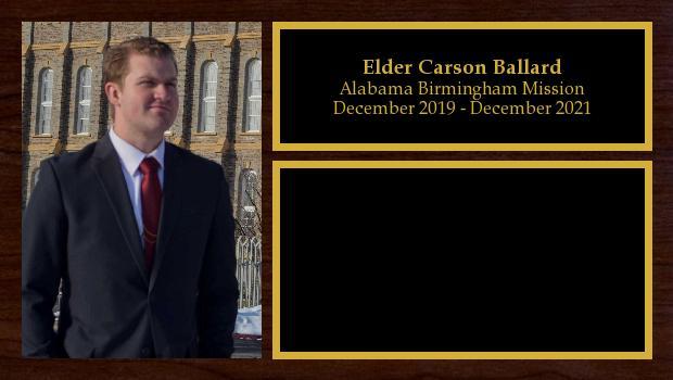 December 2019 to December 2021<br/>Elder Carson Ballard