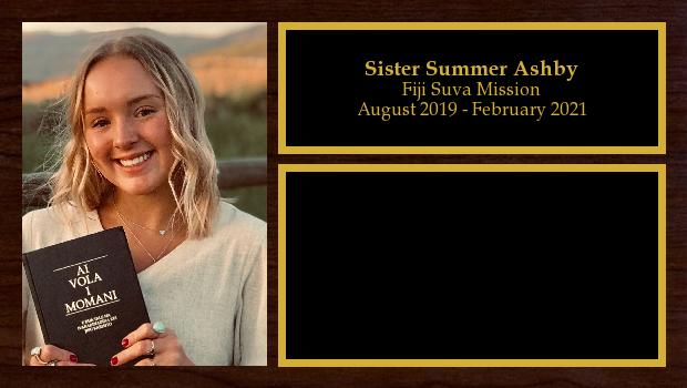 August 2019 to February 2021<br/>Sister Summer Ashby